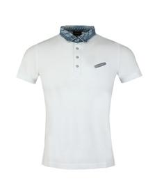 Diesel Mens White Sam Polo Shirt