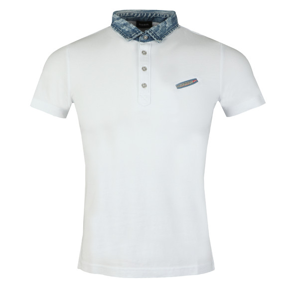 Diesel Mens White Sam Polo Shirt main image