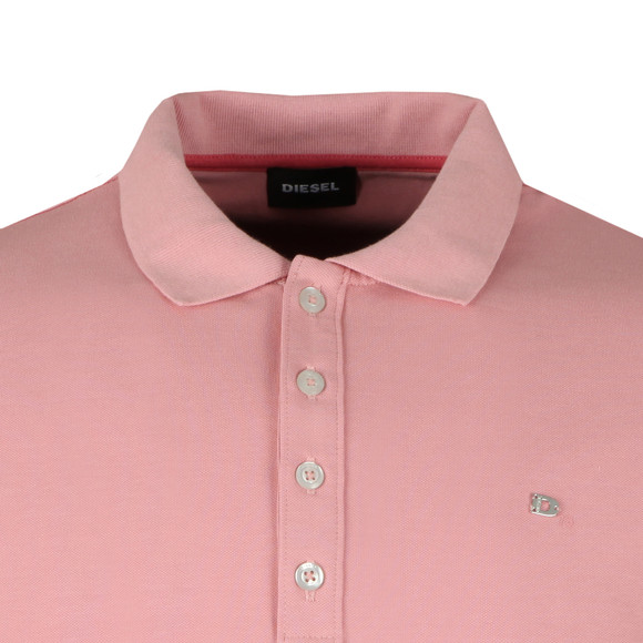 Diesel Mens Pink T Heal Polo Shirt main image