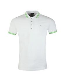 Diesel Mens White Randy Polo Shirt