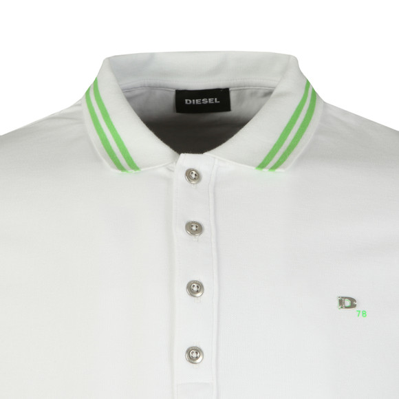 Diesel Mens White Randy Polo Shirt main image