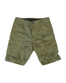 G-Star Mens Green Rovic Zip Relaxed Short