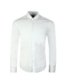 Boss Green Mens White Boldo Regular Fit Stretch Shirt