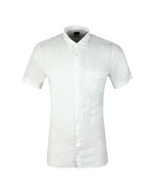 Boss Orange Mens White Cattitude Short Sleeve Shirt