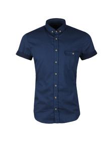 Boss Orange Mens Blue Elibre Patterned Shirt