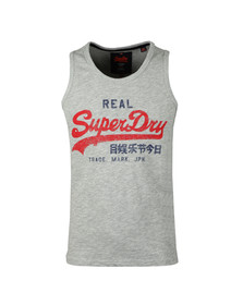 Superdry Mens Grey Vintage Logo Duo Entry Vest