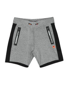 Superdry Sport Mens Grey Gym Tech Stripe Slim Short