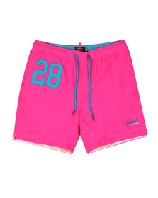 Superdry Mens Pink Waterpolo Swim Short