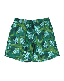 Vilebrequin Mens Green Starlette & Turtle Swim Short