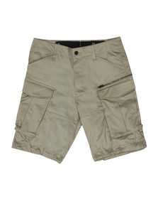 G-Star Mens Beige Rovic Zip Relaxed Short