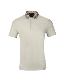 Aquascutum Mens Beige Coniston Club Check Collar Polo Shirt