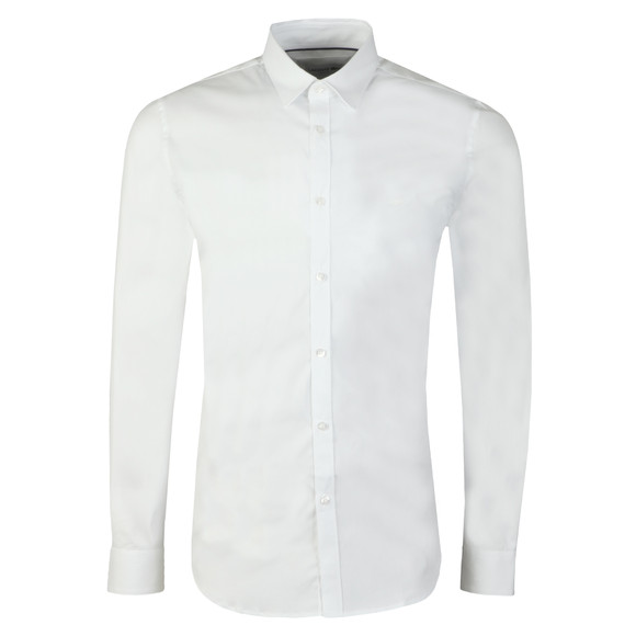 Lacoste Mens White CH9628 LS Slim Stretch Shirt main image