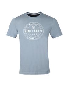 Henri Lloyd Mens Blue Hurst Printed Tee