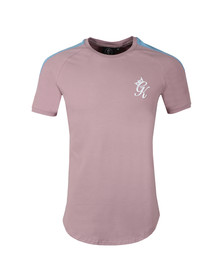 Gym King Mens Pink S/S Retro Jersey Tee