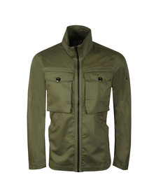 G-Star Mens Green Type C Zip Utility Overshirt