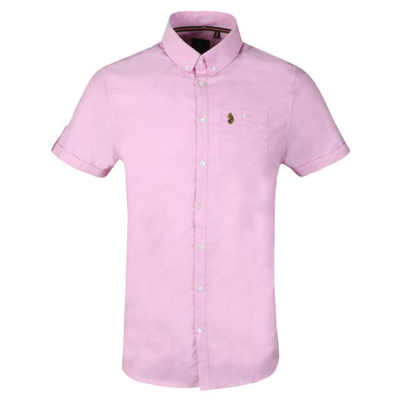 Luke Mens Pink Jimmy Travel SS Shirt main image