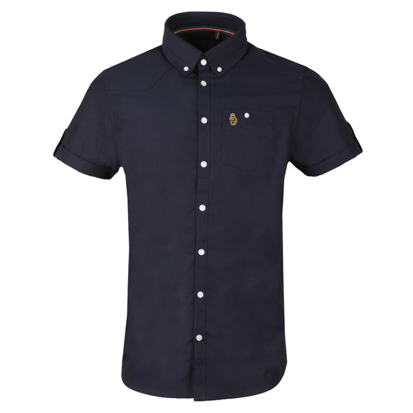 Luke Mens Blue Jimmy Travel SS Shirt main image
