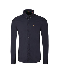 Luke Mens Blue L/S Cuffys Call Shirt