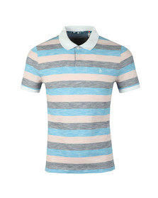 Original Penguin Mens Pink S/S Feeder Stripe Polo