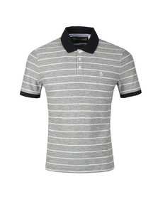 Original Penguin Mens Blue S/S Feeder Stripe Polo