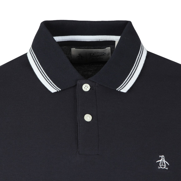 Original Penguin Mens Blue 56 Tipped Polo main image