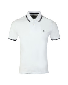 Original Penguin Mens White 56 Tipped Polo