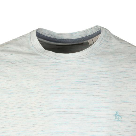 Original Penguin Mens Blue S/S Space Dye Stripe Tee main image