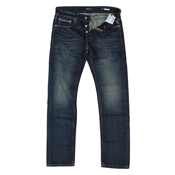 Replay Mens Blue Grover Straight Fit Jean main image