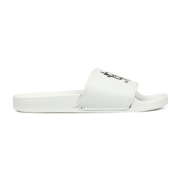 Gym King Mens White Sliders main image
