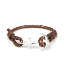 Tom Hope Unisex Brown Single Leather Collection Bracelet
