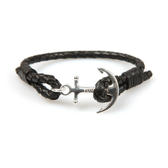 Tom Hope Unisex Black Single Leather Collection Bracelet main image