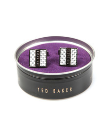 Ted Baker Mens Grey Benched Carbon Fibre Cufflinks