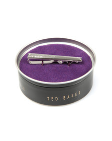 Ted Baker Mens Silver Corner Crystal Tie Bar