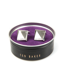 Ted Baker Mens Silver Baile Corner Crystal Cufflinks