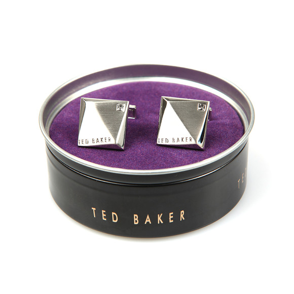 Ted Baker Mens Silver Baile Corner Crystal Cufflinks main image