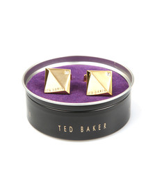 Ted Baker Mens Gold Baile Corner Crystal Cufflinks