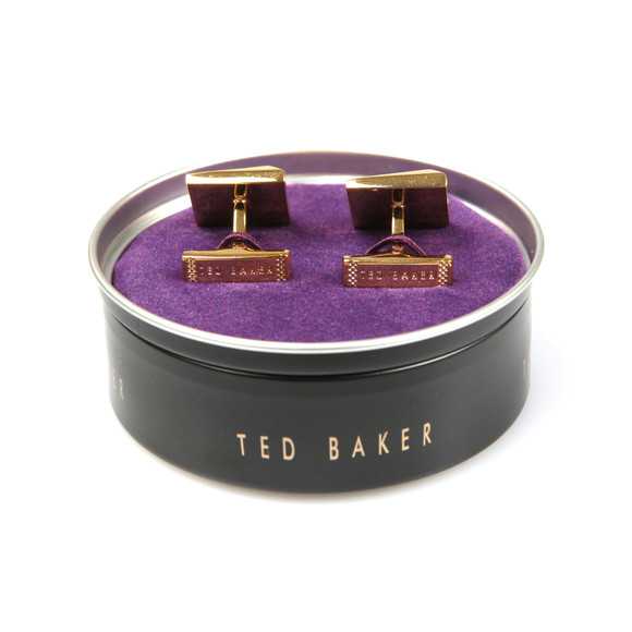 Ted Baker Mens Gold Baile Corner Crystal Cufflinks main image