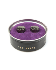 Ted Baker Mens Grey Carbon Fibre Button Covers