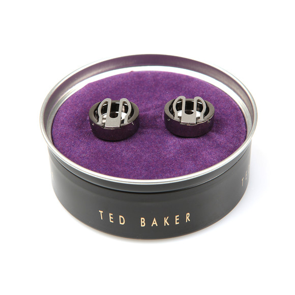 Ted Baker Mens Grey Carbon Fibre Button Covers main image