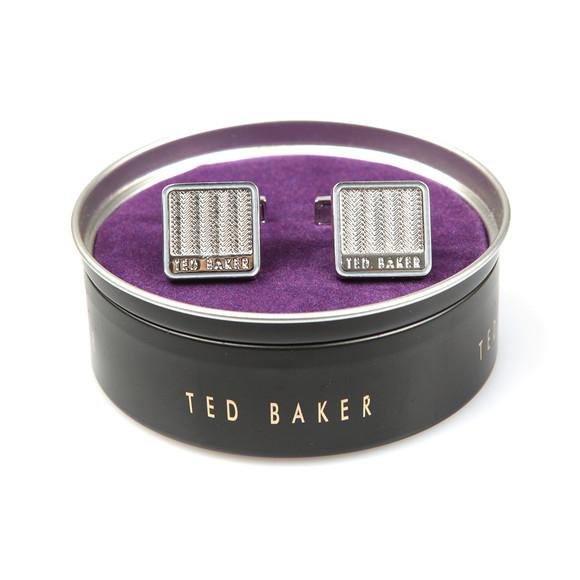 Ted Baker Mens Silver Herringbone Cufflinks main image