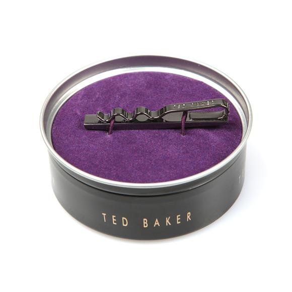 Ted Baker Mens Grey Carbon Fibre Tie Bar main image