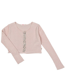 Billieblush Girls Pink U15501 Gem Cardigan
