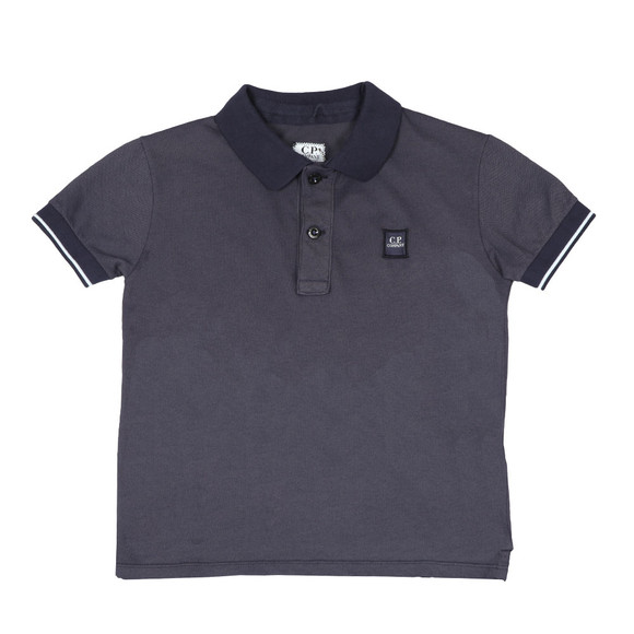 C.P. Company Undersixteen Boys Blue Contrast Collar Polo Shirt main image