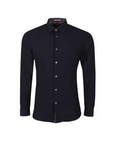 Ted Baker Mens Blue LS Waffle Stitch Shirt