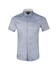 Ted Baker Mens Blue Wallo S/S Oxford Shirt