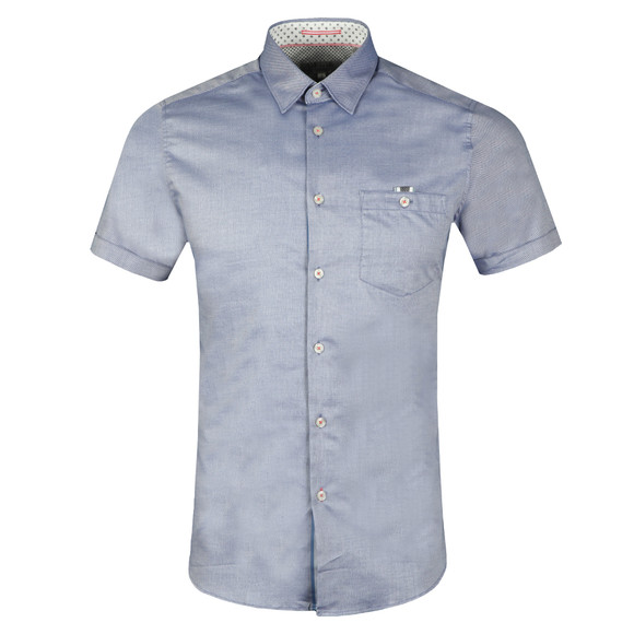 Ted Baker Mens Blue Wallo S/S Oxford Shirt main image