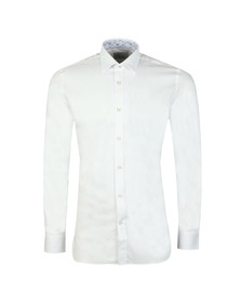 Ted Baker Mens White Herringbone Endurance Shirt