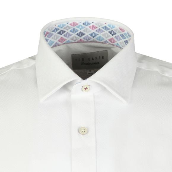 Ted Baker Mens White Herringbone Endurance Shirt main image