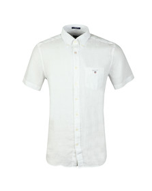 Gant Mens White The Linen SS Shirt