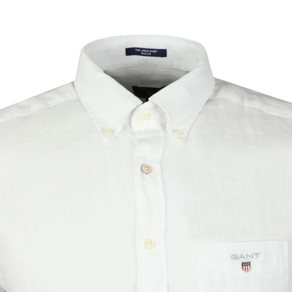 Gant Mens White The Linen SS Shirt main image